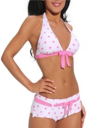 Sexy Retro Polka Dot Two Piece Hipster Bikini Swimwear, (bathing suit,  bikini, swimsuit)
