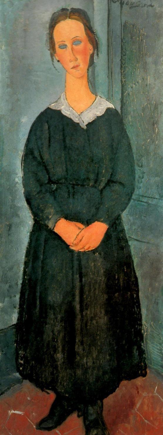 Servant Girl by @artmodigliani #expressionism
