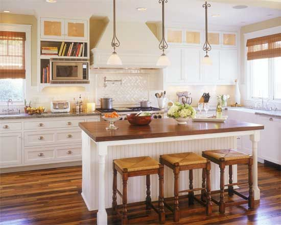 Beach kitchens images casa marr n beach cottage kitchen for Beach house kitchen plans