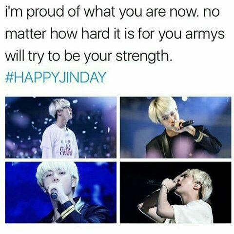 Thank you so much Seokjin~ Im so proud of you~