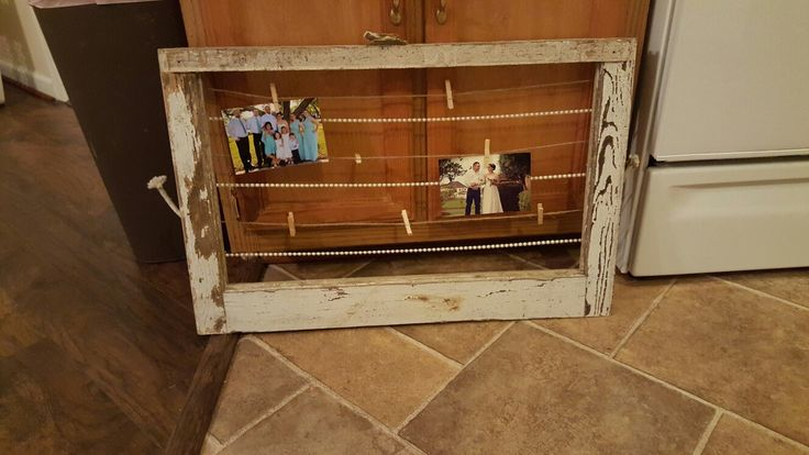 Antiqued window frame that i made. More to come (: