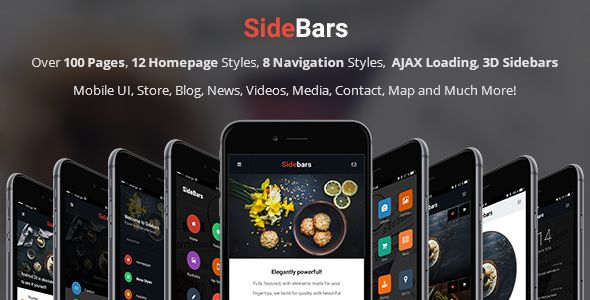 SideBars 3D | Mobile & Tablet Responsive Template