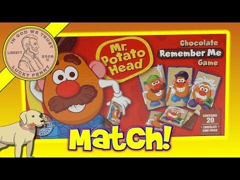 Mr Potato Head Chocolate Remember Me Kids Matching Game - YouTube
