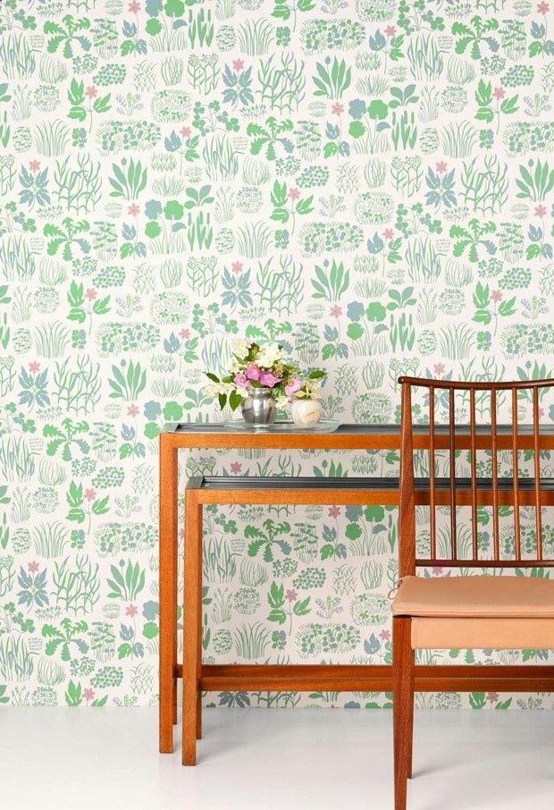 Josef Frank wallpaper. Sondagsmorgon