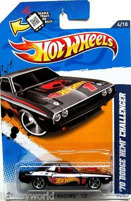 1970 Dodge HEMI Challenger Hot Wheels 2012 Hot Wheels Racing #4/10 BLACK