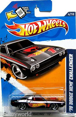 1970 dodge hemi challenger hot wheels 2012 hot wheels racing 410 black - Hot Wheels Cars 2012