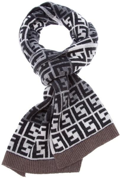 printed scarf - Black Fendi 3CuvJJLQV9