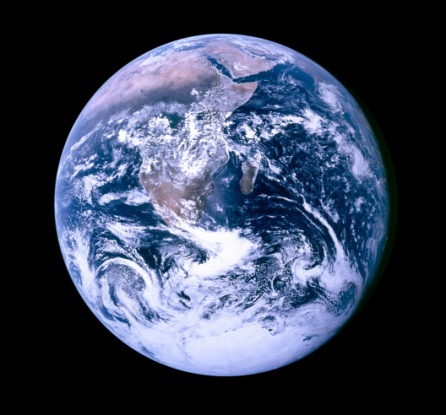 The Original Blue Marble--the iconic image of a fully illuminated Earth was taken by astronauts with the sun behind them. The earth appeared like a glass marble, thus the name.