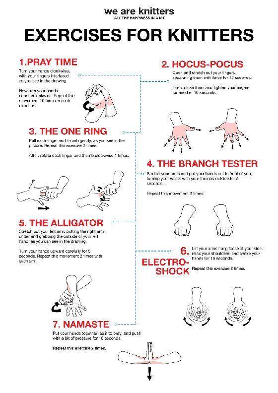 Exercícios de mão para knitters