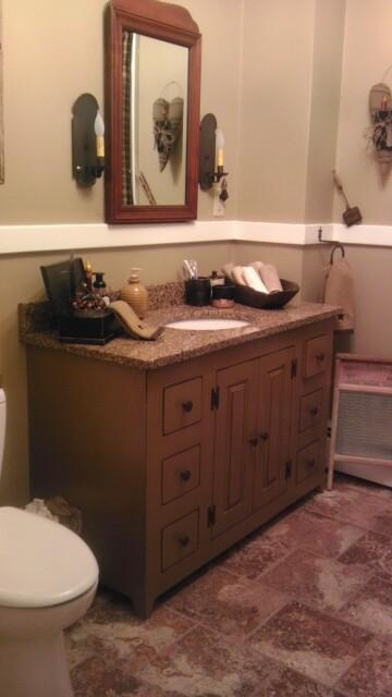 This Is A Customeru0027s Bath Vanity (made By Denis Latour) Installed In Her  Brand