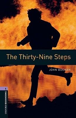 """Novel:The Thirty-Nine Steps by John Buchan was published in 1915 and was one of the first """"conspiracy"""" spy thrillers, and is regularly voted one of the top ten spy thrillers of all time. Just before the WWI, a Scottish adventurer finds a dead man in his flat, murdered by a German spy ring. The prime suspect for the murder, he goes on the run, and must evade capture, clear his name and save his country."""