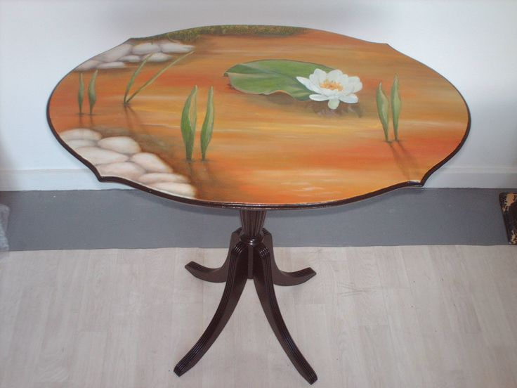 Table becomes a water lilly pond.