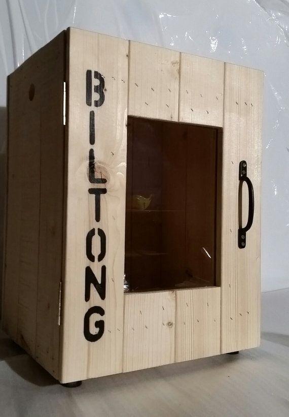 Personalised rustic biltong box jerky maker by BiltongBoxUK