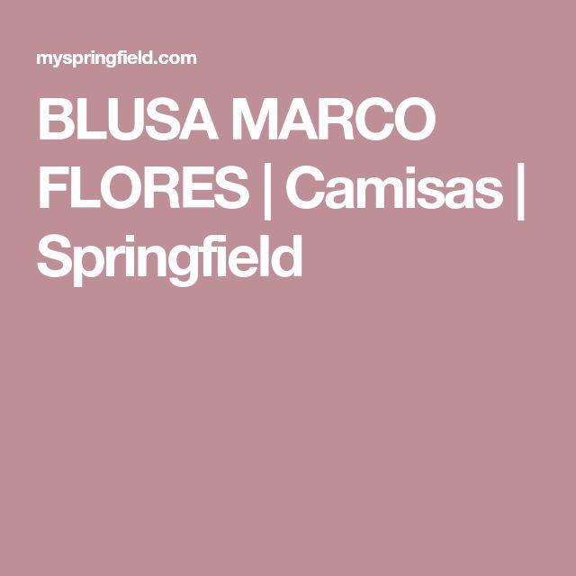 BLUSA MARCO FLORES | Camisas | Springfield