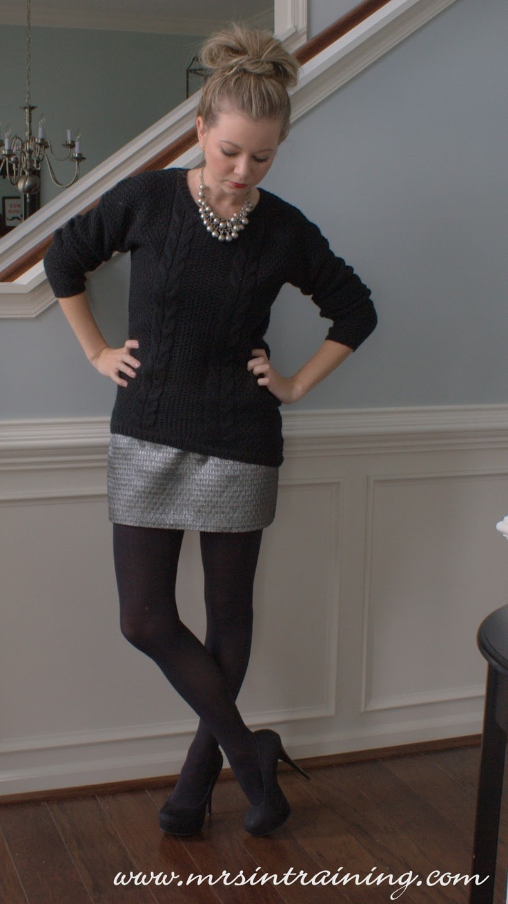 Ootd Chunky Knit Black Sweater From Target Silver Mini