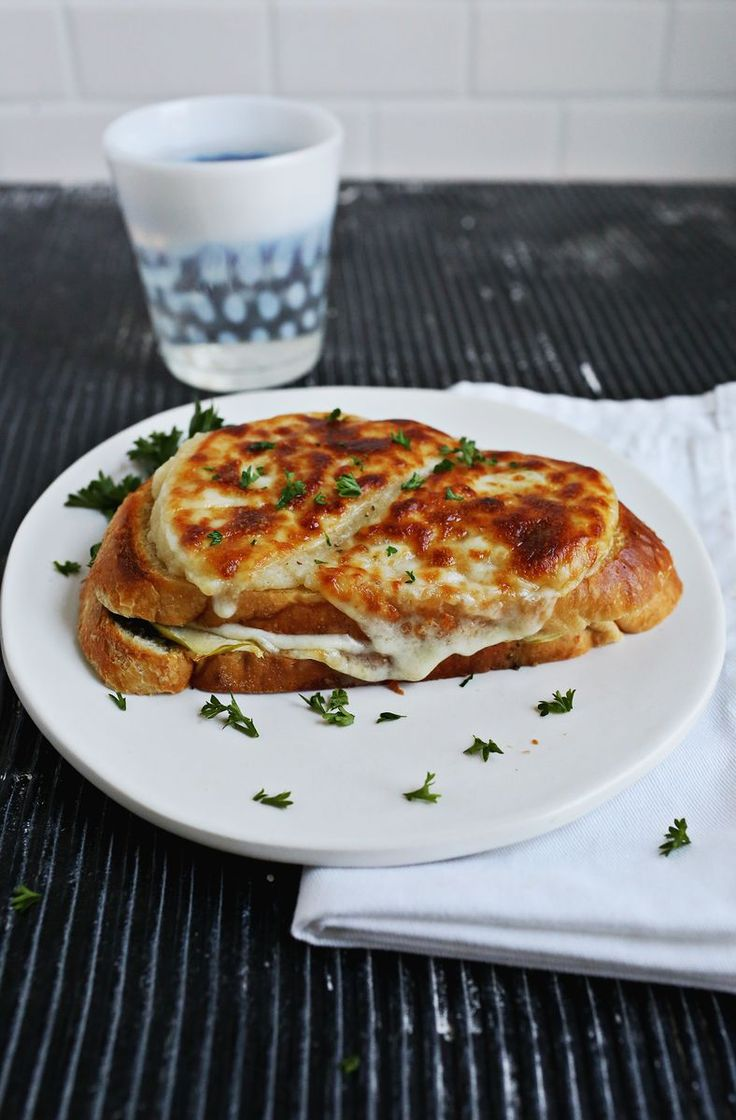 Warm up this fall with a Baked Cheesy Apple Sandwich from A Beautiful Mess!