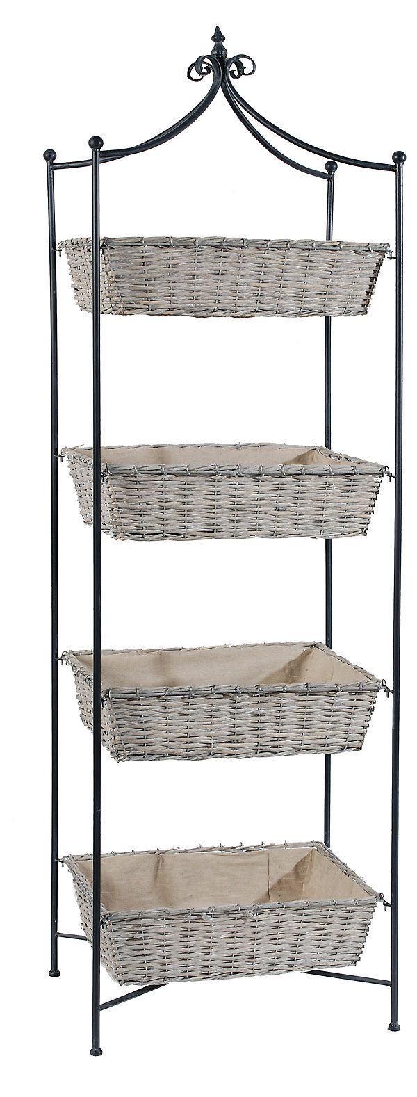 excellent light fabric lines each basket on this metal stand making it perfect for storing and. Black Bedroom Furniture Sets. Home Design Ideas