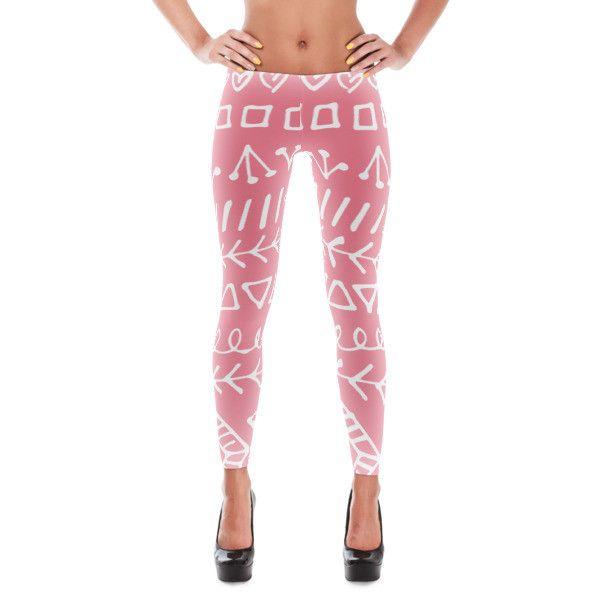 Tribal Pink Leggings