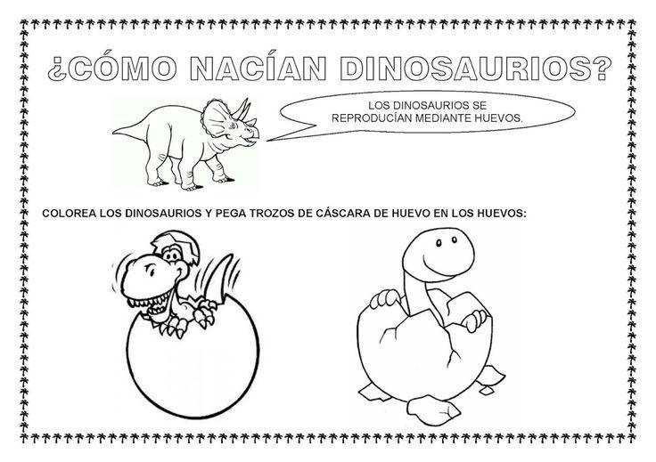 ESOS LOCOS BAJITOS DE INFANTIL: FICHAS PARA TRABAJAR LOS DINOSAURIOS