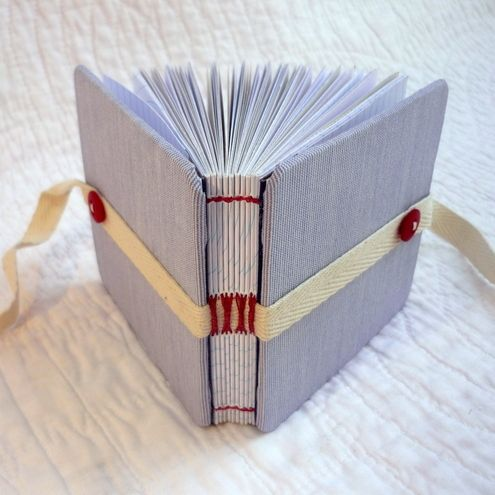"""Pale Stripe - Shirty Beer Mat"""" Recycled hand bound notebook or journal £15.00"""