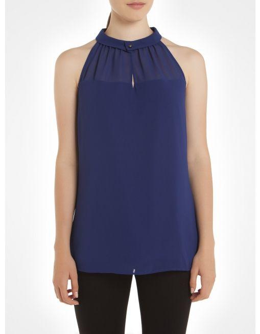 Tie neck chiffon blouse - Blue Blouses @Melissa Ryan JACOB #JACOBGIFTS