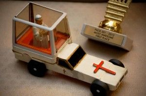 Pinewood Derby Pope Mobile