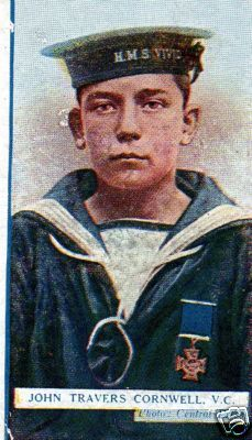 One of the cigarette cards issued.
