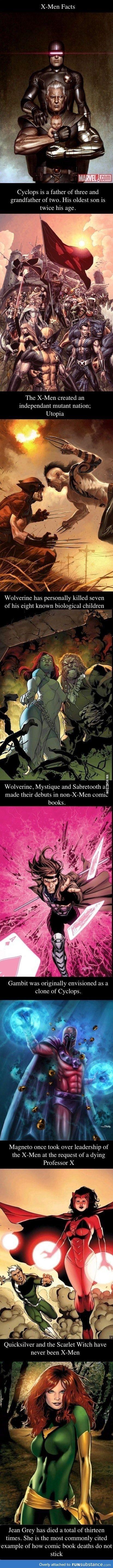 X-men facts compilation