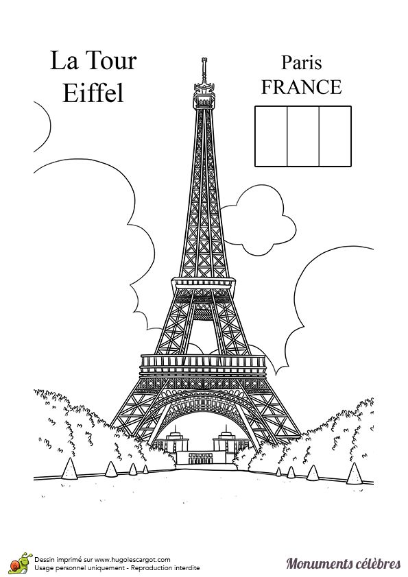 Les 194 meilleures images du tableau dessins pour apprendre sur pinterest coloriages 17 ans - La tour eiffel a colorier ...