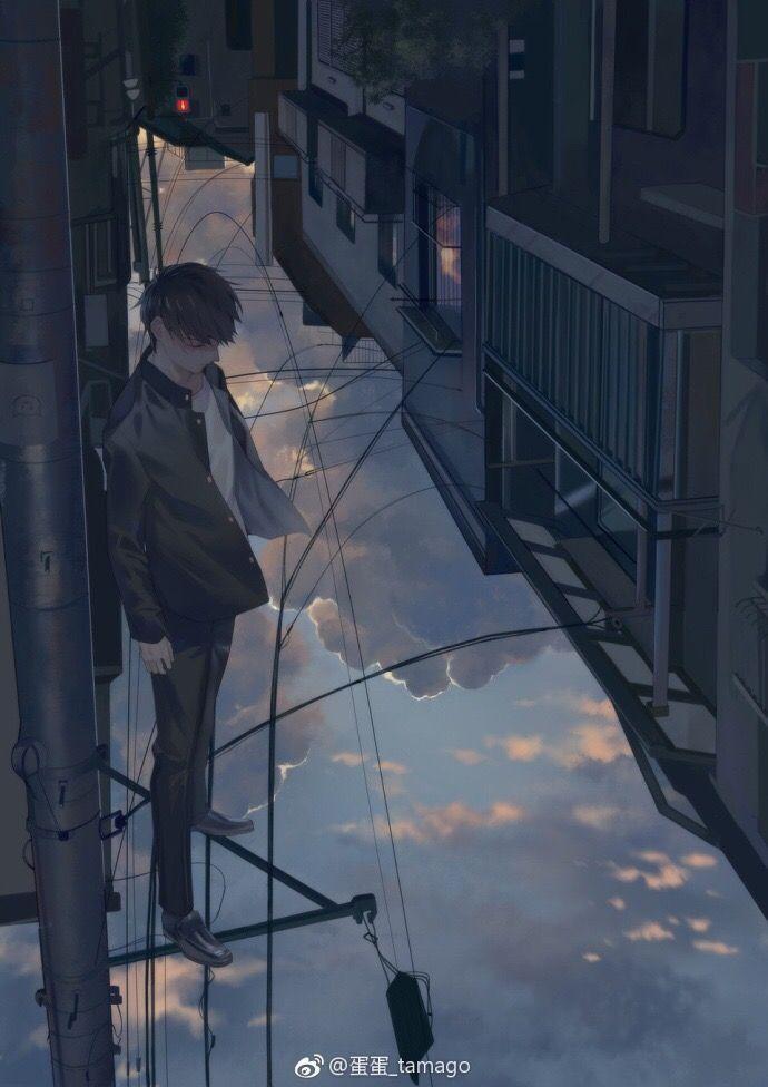 Beautiful Anime Boy Art Handsome Drawing Fashion Sad