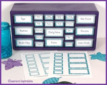 *** Free *** Teacher Toolbox Labels!   They match the Book Smart Owls Classroom Theme! ClassroomInspirations.com
