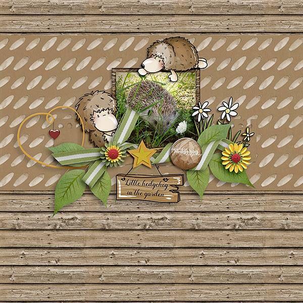 Oscraps.com :: Shop by Category :: All New :: SoMa Design Hedgehog in the garden Cards