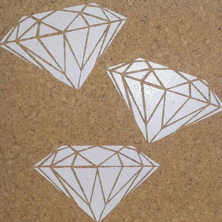 Diamonds pink cork pinboard