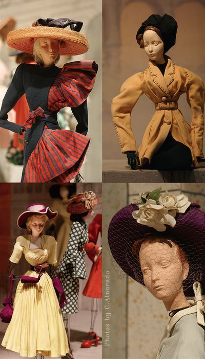 Miniature mannequins outfitted in couture clothing (1945/46) at the Théâtre de la Mode exhibit~Image by Christine Alvarado.