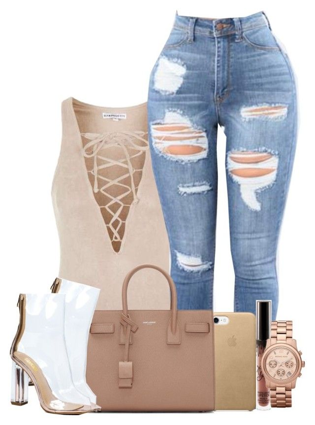 """""""Feeling drunk and high."""" by julianaimp ❤ liked on Polyvore featuring Topshop, Yves Saint Laurent and MICHAEL Michael Kors"""