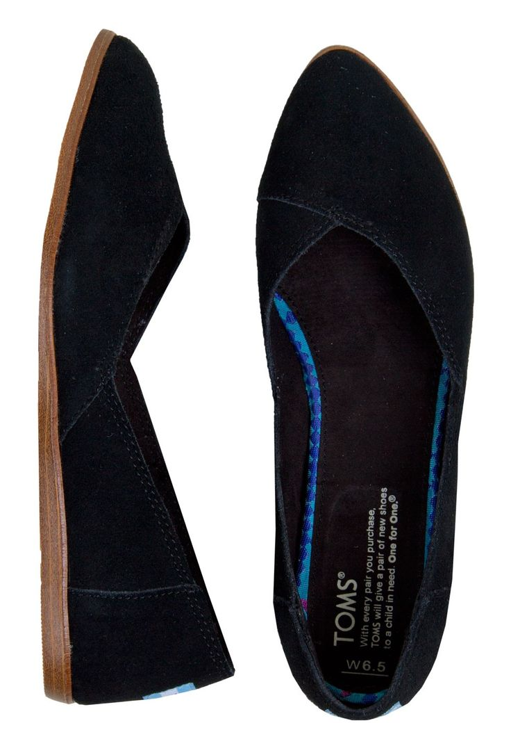 TOMS Black Suede Jutti Flats | tried these on - so comfortable and actually very flattering