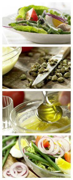 Salatprominenz von der Côte d'Azur: Nizza-Salat mit Thunfisch, grünen Bohnen und Eiern   http://eatsmarter.de/rezepte/nizza-salat