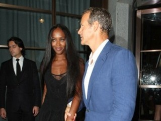 Naomi Campbell threw a birthday party for her boyfriend at P. Diddy's house on Friday.