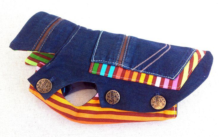 Manathan Manteau Vêtement chihuahua Yorkshire jean's multicolor : Animaux par ines-des-fils