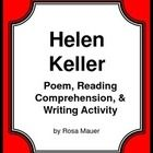 Helen Keller: Helen Keller is the focus of this printable packet. You will receive a two-page originally written poem about Helen Keller and ten co...