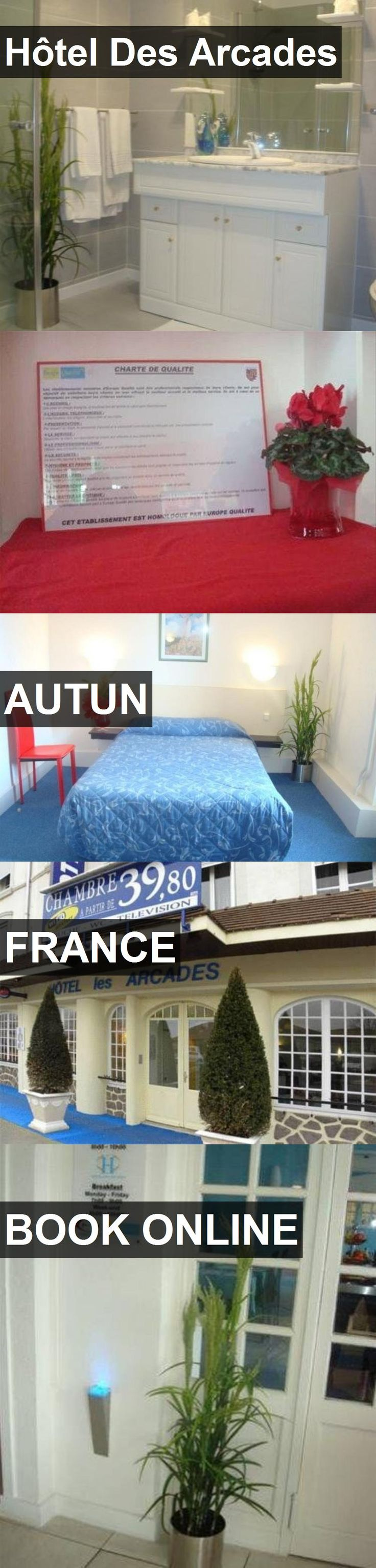 Hotel Hôtel Des Arcades in Autun, France. For more information, photos, reviews and best prices please follow the link. #France #Autun #HôtelDesArcades #hotel #travel #vacation