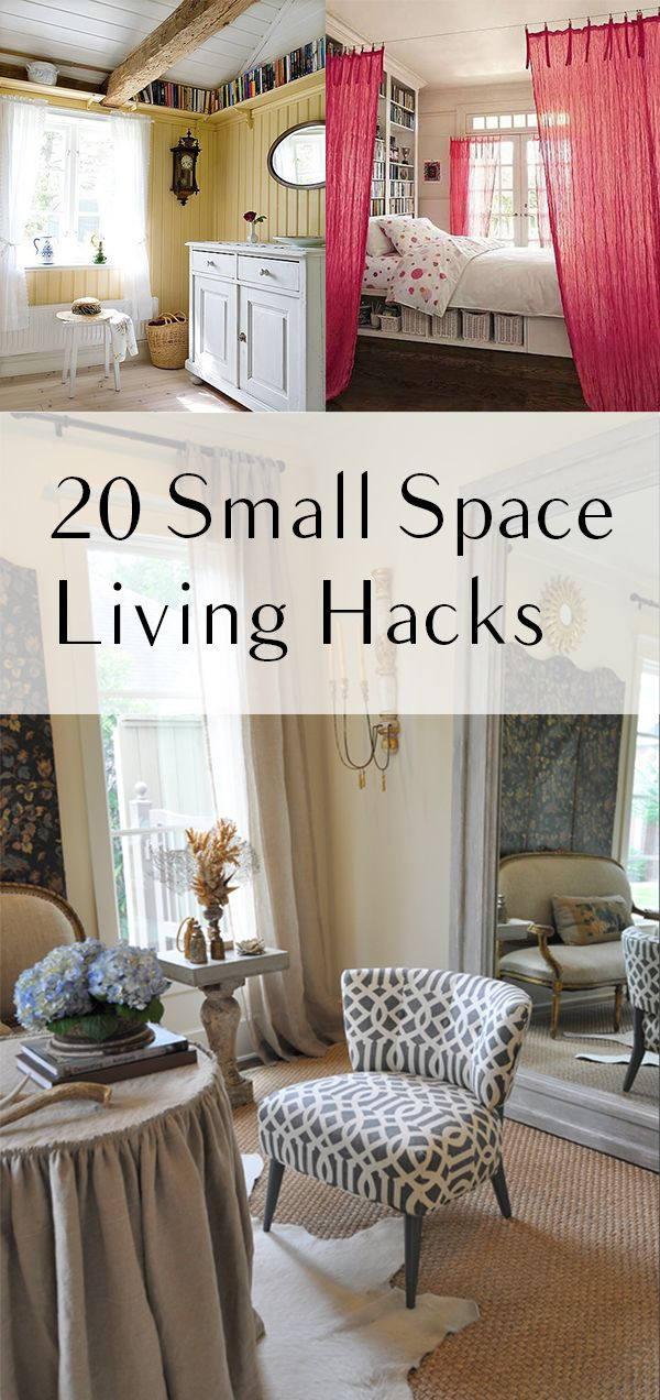 20 Small Space Living Hacks DIY Home Projects Decor