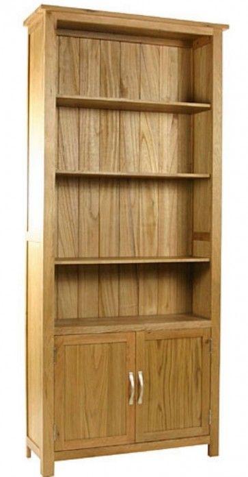 Essentials Oak Tall Cupboard Bookcase Mix Of And Veneers 398 00