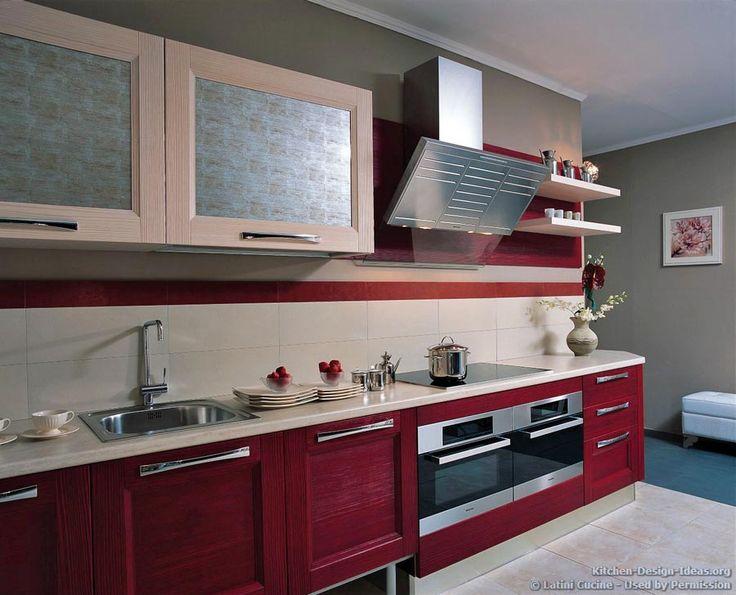 Modern Kitchen Red 165 best red kitchens images on pinterest   kitchen ideas, kitchen