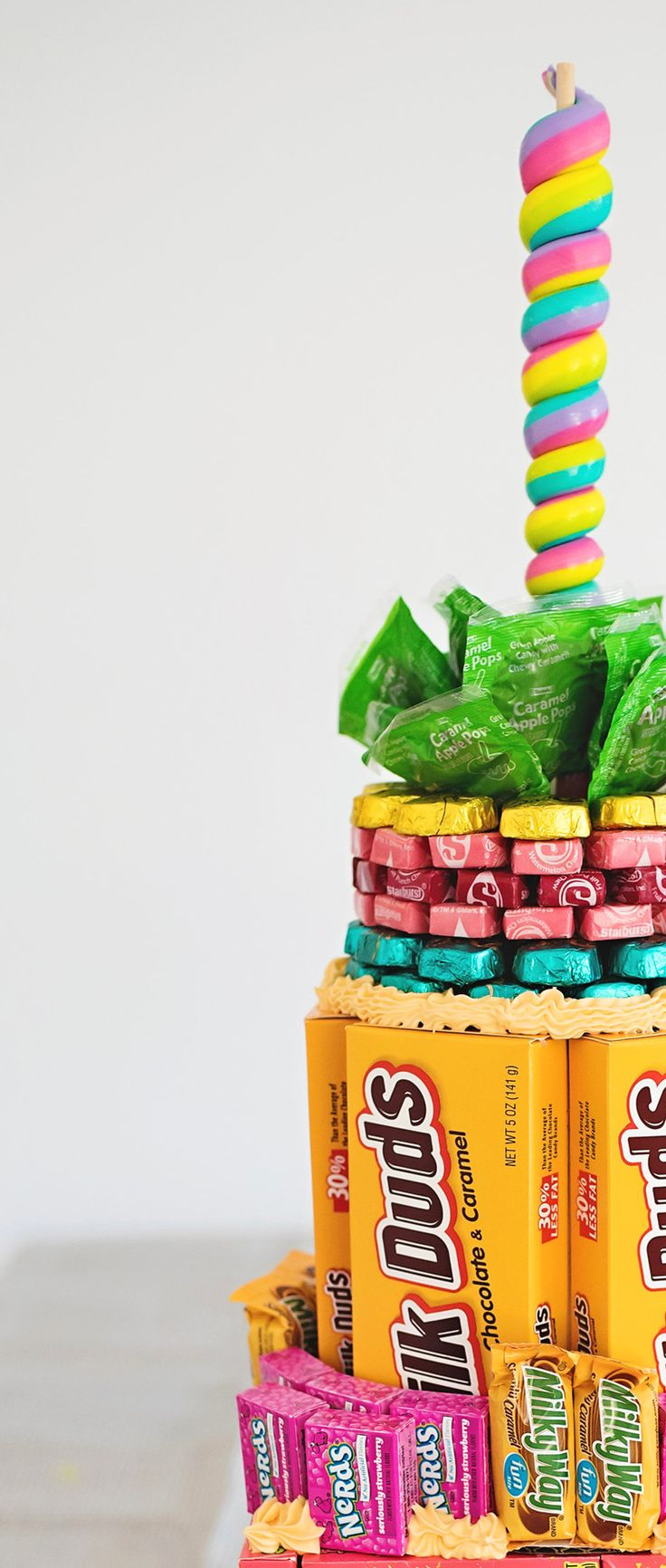 A birthday cake made entirely of candy! http://asubtlerevelry.com/a-candy-cake
