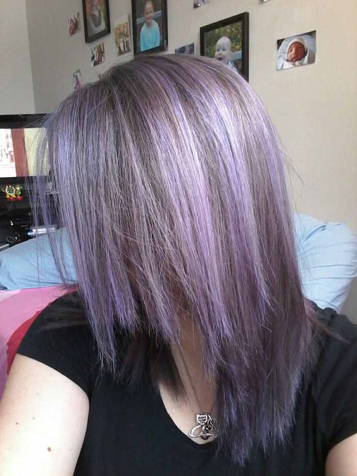 Manic Panic Purple Haze diluted with white conditioner over light blonde/white highlights  💜