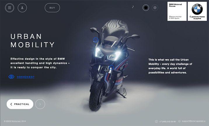 Website Of The Day 12 December 2014 BMW Motorrad Special online shop by Zero http://www.cssdesignawards.com/sites/bmw-motorrad-special-online-shop/25669