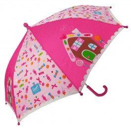 paraplu lief! sweets & treats. Met een snoephuis en snoepjes.