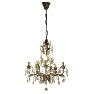Chandelier with Drops and Iron