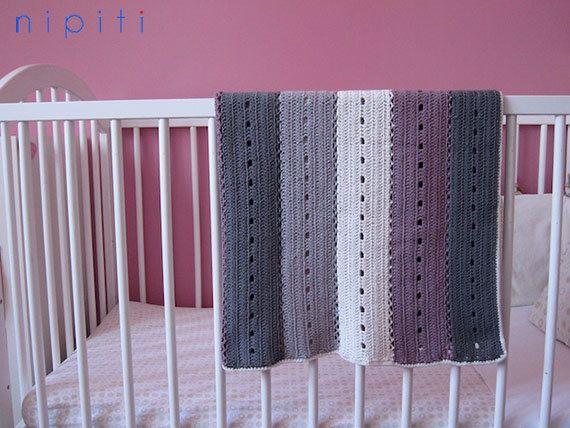 Modern Crochet Patterns For Baby Blankets : Modern Crochet Baby Blanket and Teddy Bear rattle ...